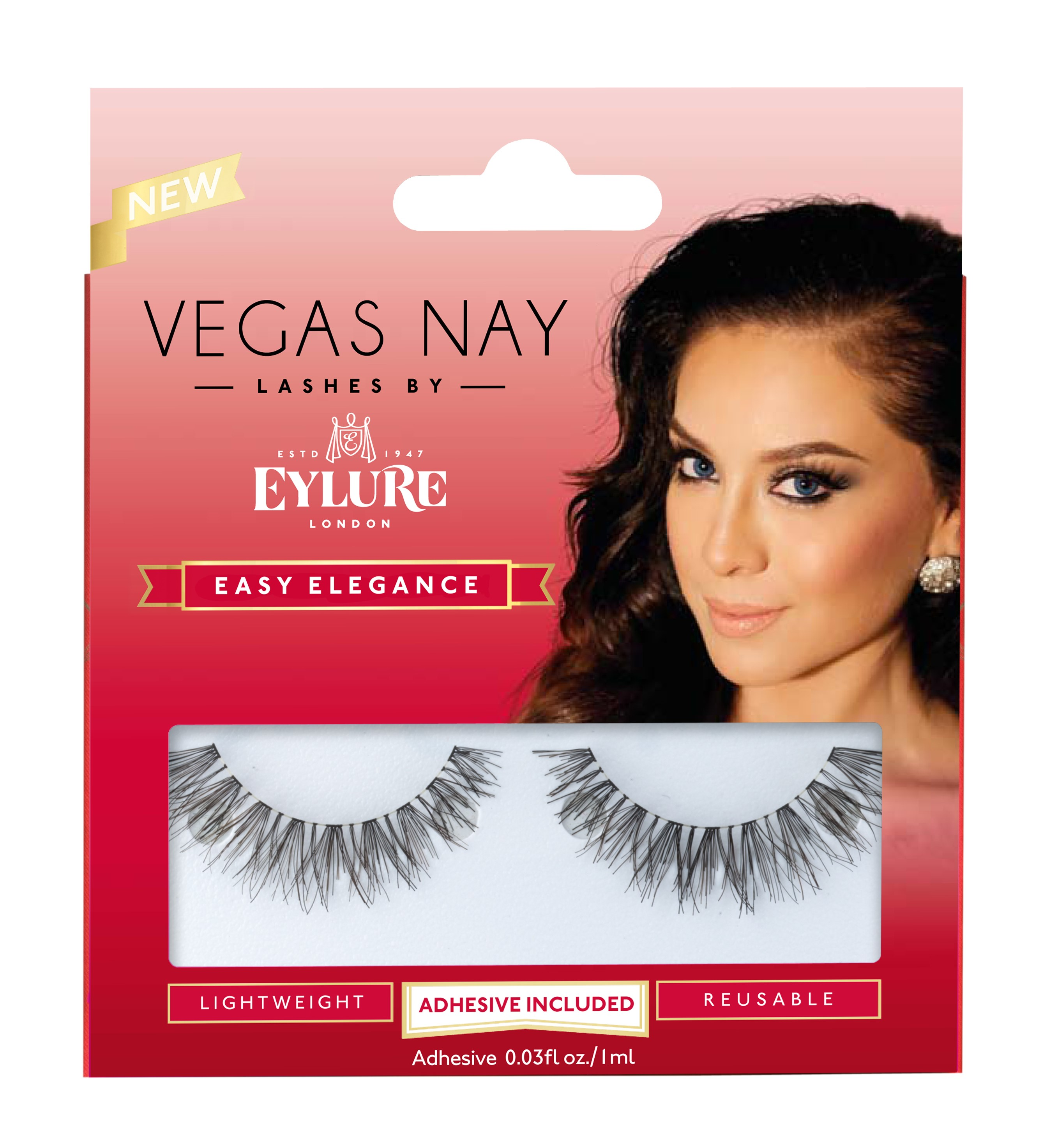 Vegas Nay by Eylure Easy Elegance Eyelashes Kit, 2 pc