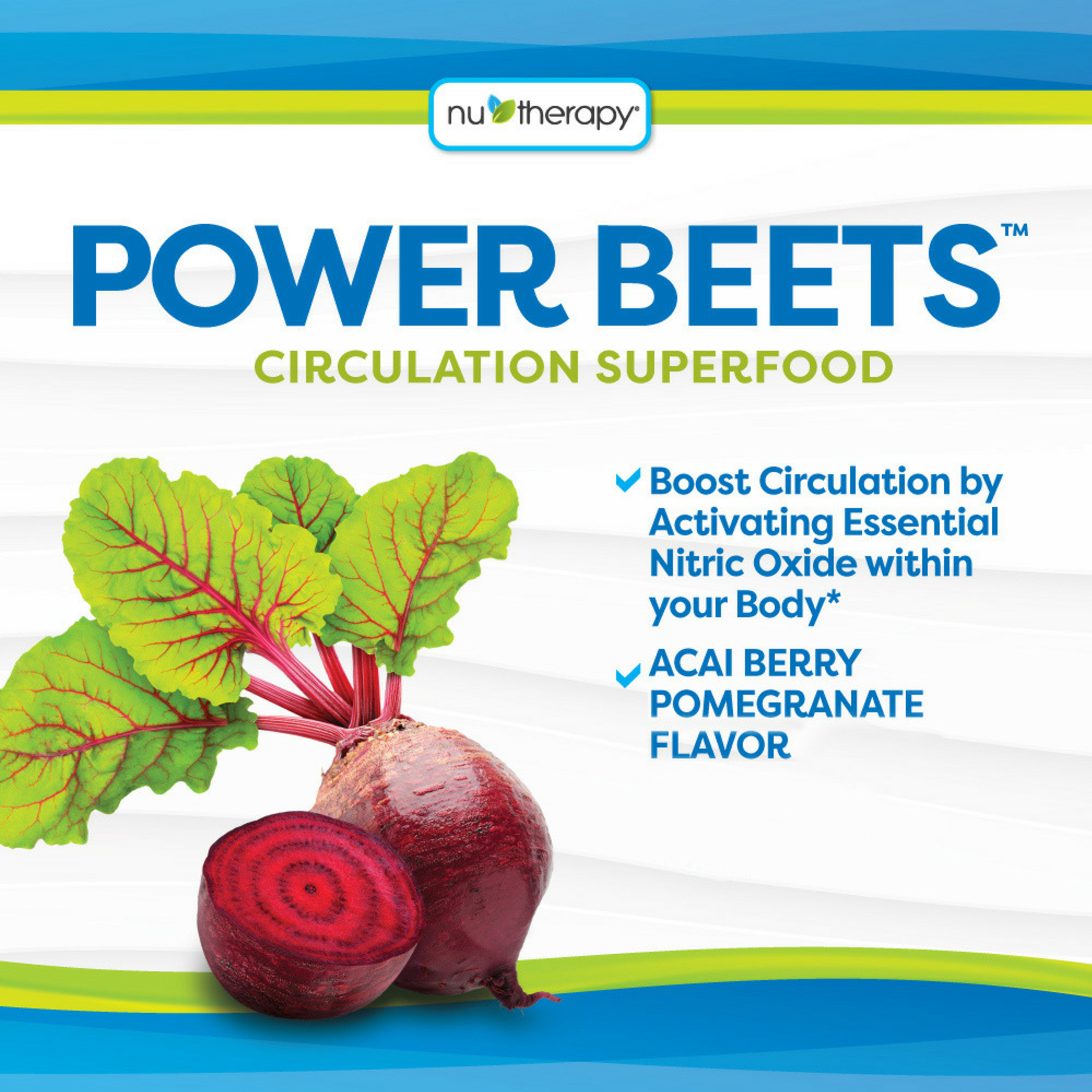 Nu Therapy Power Beets Powder, Berry Pomegranate, 58 Oz, 30 Serving
