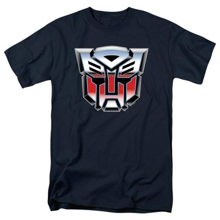 Trevco Sportswear HBRO137-AT-3 Transformers & Autobot Airbrush Logo Print Adult Regular Fit Short Sleeve T-Shirt, Navy - Large - image 1 of 1