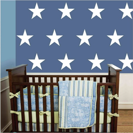 Owl Hills Stars Wall Stickers, 9""