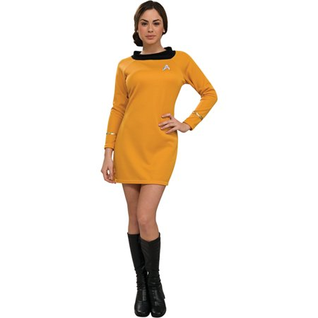 Morris Costumes Womens Tv & Movie Characters Star Trek Dress Gold M, Style RU889059MD