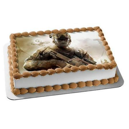 Call Of Duty Black Ops 2 Alex Mason Edible Cake Topper (Call Of Duty Black Ops Birthday Cake Ideas)