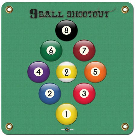 "Arrowmat LLC Foam Rubber 9 Ball Shootout Target Face 17"" x 17"" thumbnail"
