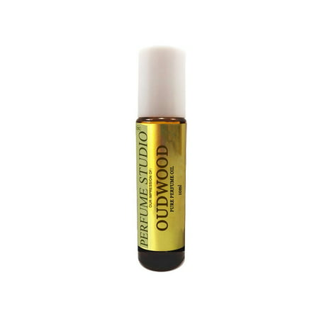 Amber Vanilla Perfume Oil (OudWood Perfume Oil. Perfume Studio IMPRESSION of TF Oud Wood for Men. 10ml Amber Glass Roll On White Cap; 100% Pure Parfum Oil (VERSION/TYPE Oil; Not Original Brand) )