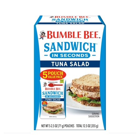 Bumble Bee Sandwich in Seconds Tuna Salad Pouches, 5 pk./2.5