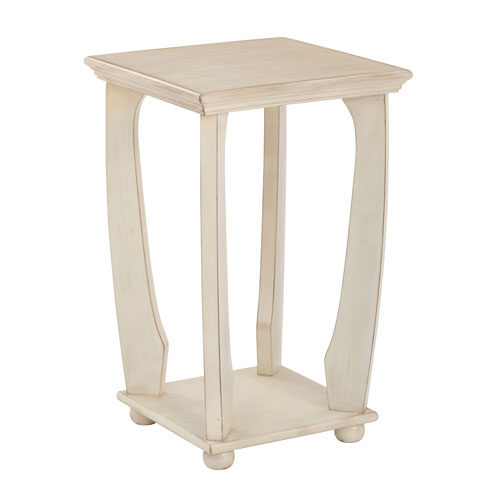 Grace Antique White Square Accent Table