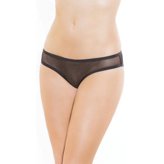 98cf2c24a982 Coquette - Ruched Sheer Crotchless Panty - Walmart.com