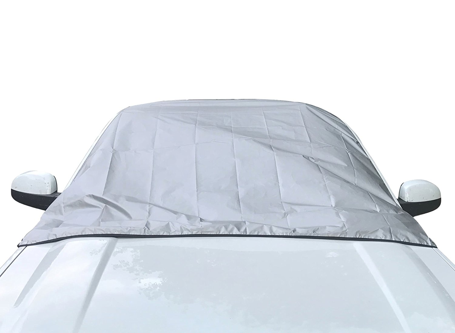 THEFT-PROOF Snow Cover Windshield Ice Cover Dust Sun Shade Protector in All Weather Extra Thicker Car Windscreen Cover with Two Mirror Covers 51.58 Szie XL 98.43