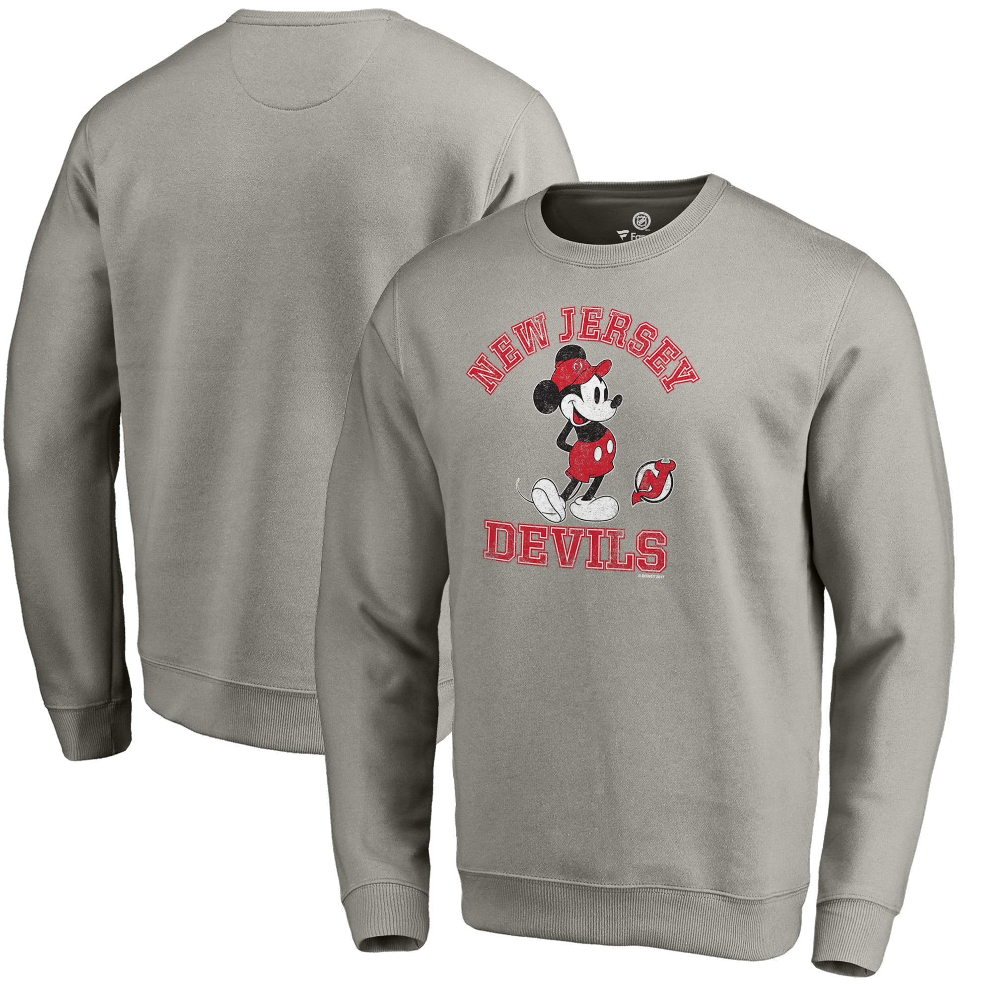 New Jersey Devils Fanatics Branded Disney Tradition Sweatshirt - Heathered Gray