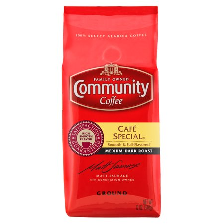 Community Coffee Premium Ground Café Special® Medium-Dark Roast Coffee, 12 Ounce