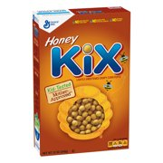 Honey Kix Breakfast Cereal, Crispy Corn Puffs Cereal, 12 oz