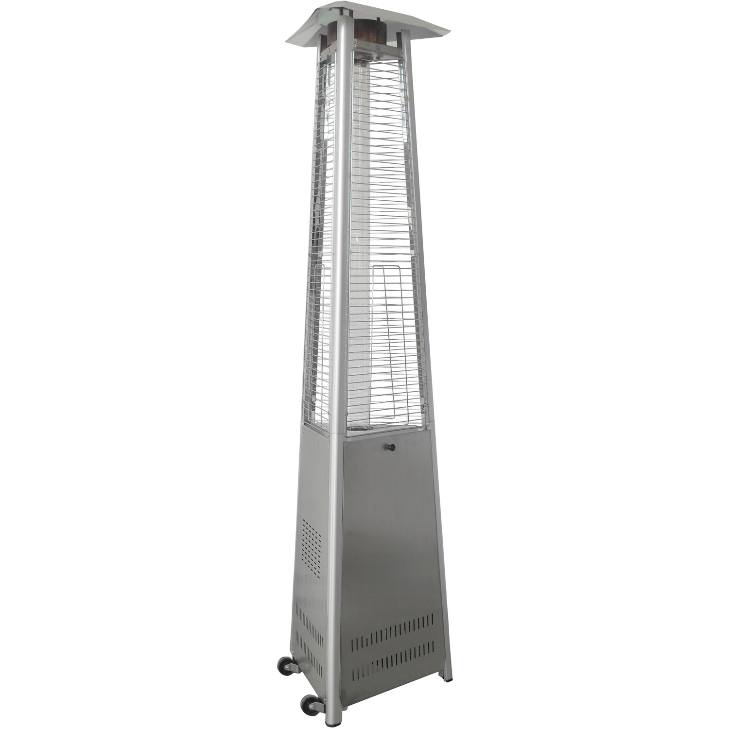 Cambridge 7 Ft. 42,000 BTU Triangle Propane Patio Heater in Stainless Steel by Cambridge