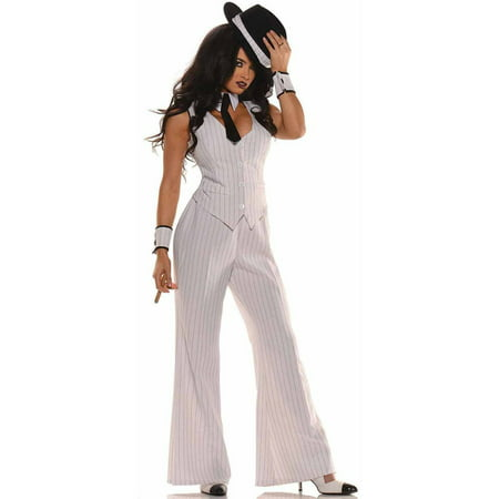 Gangster Halloween Costume Accessories (Mob Boss Gangster Women's Adult Halloween)
