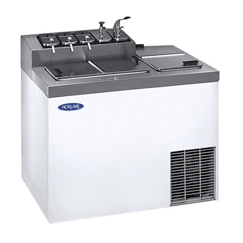 """ZF124WVS/0 43"""" Flip Top Ice Cream Dipping Cabinet with To..."""