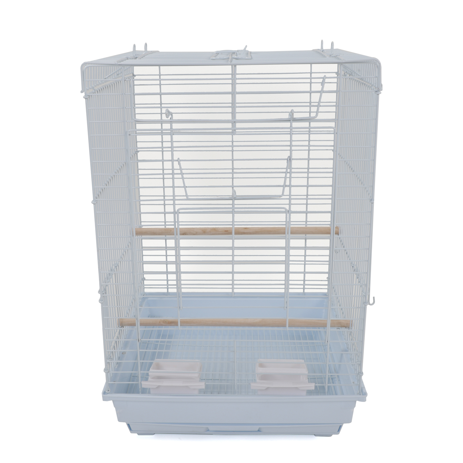 """23"""" Bird Cage Pet Supplies Metal Cage with Open Play Top White"""