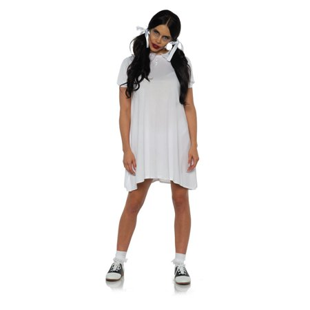 Extremely Scary Halloween Costumes (Creepy Womens Scary Toy Doll Grey Little Girl Halloween Costume)