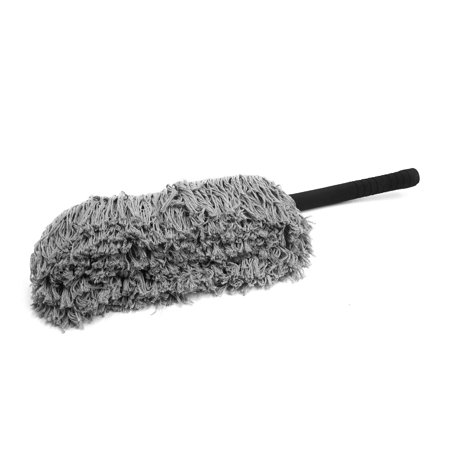 Black Sponge Non Slip Handle Gray Microfibe Wax Drag Cleaning Duster for Car - image 2 of 3