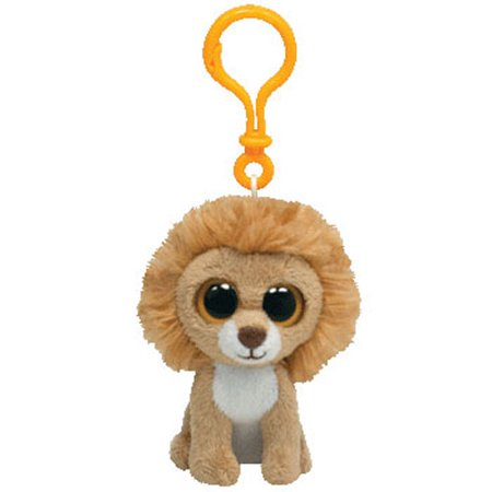 - TY Beanie Boos - KING the Lion (Solid Eye Color) (Plastic Key Clip - 3 inch)
