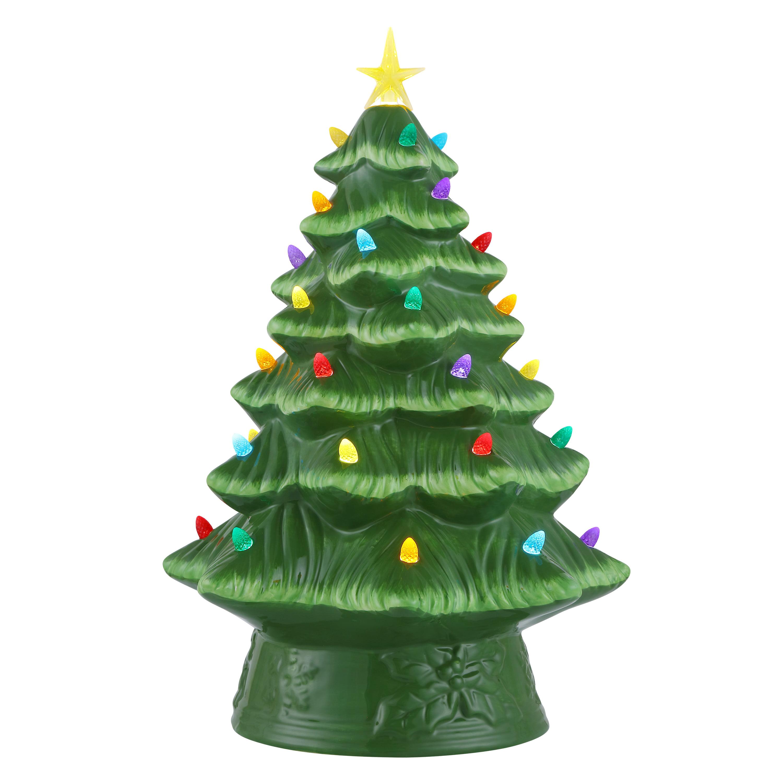 Christmas Tree Colour Schemes 2014: Mr. Christmas Prelit Ceramic Christmas Tree 16 In