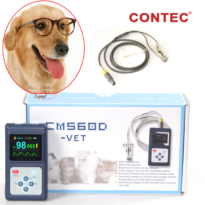 Veterinary/Animal Pulse Oximeter Blood Oxygen Monitor SPO2 With tougue/Ear Probe
