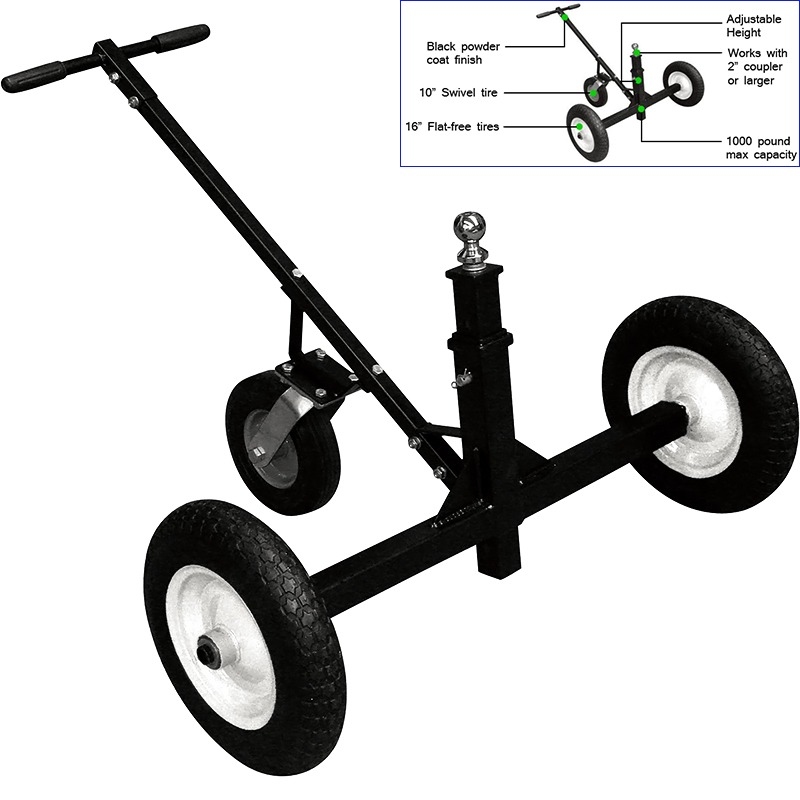 1000LB Dolly Moving Cart Adjustable Height Hand Truck