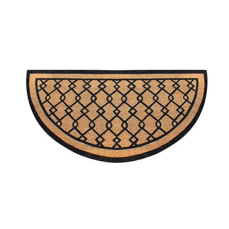 A1HC First Impression Hand Crafted Half Round Entry Double Doormat, 30