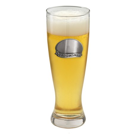 Personalized Pewter Medallion - Personalized 20 oz Pewter Medallion Pilsner