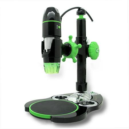 AmScope 5X-500X 2MP 8-LED 3D Zoom Digital USB Microscope New