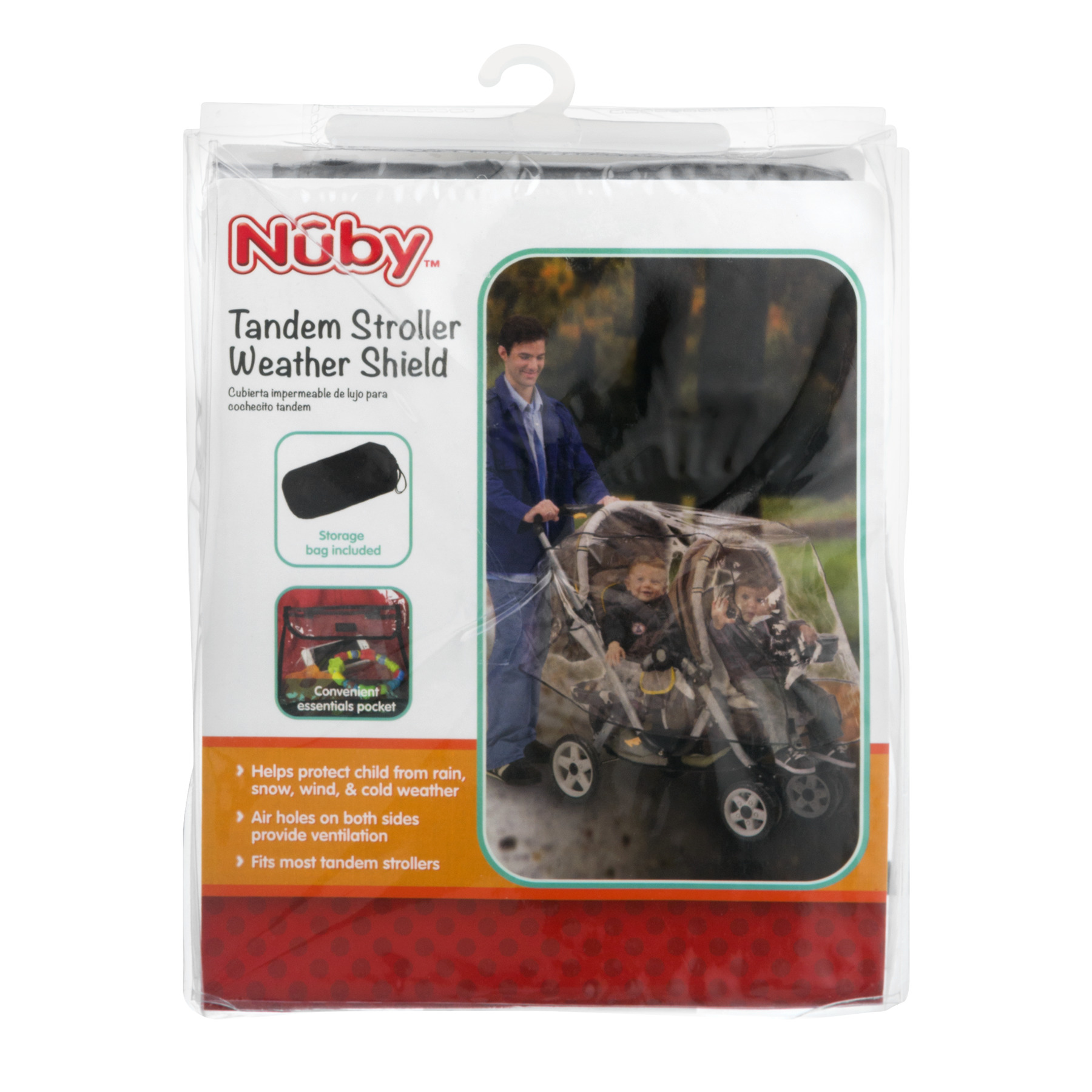 Nuby Tandem Stroller Weather Shield, 1.0 CT