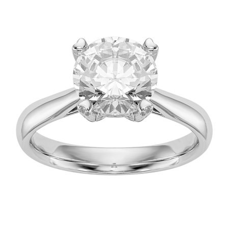 1.25 Ct Certified Diamond - Radiant Fire® Certified Lab Grown 1 Ct Round Diamond Solitaire Engagement Ring, SI1/SI2 clarity, G H I color, in 14K Yellow Gold