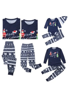 61724112d3 Product Image Family Matching Christmas Set Santa Print Long Sleeve Pajamas  Sleepwear Top Trousers Romper Sets for Family