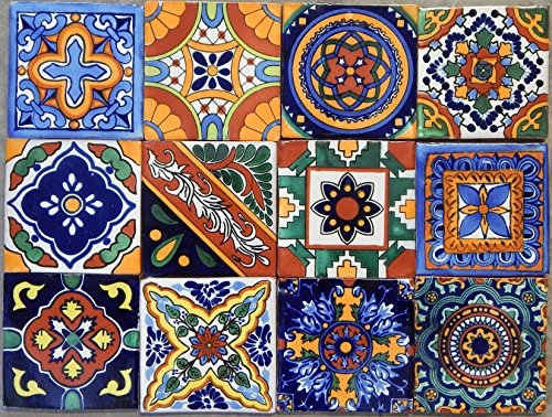 - 40 Mexican Talavera Tiles Hand Painted 6