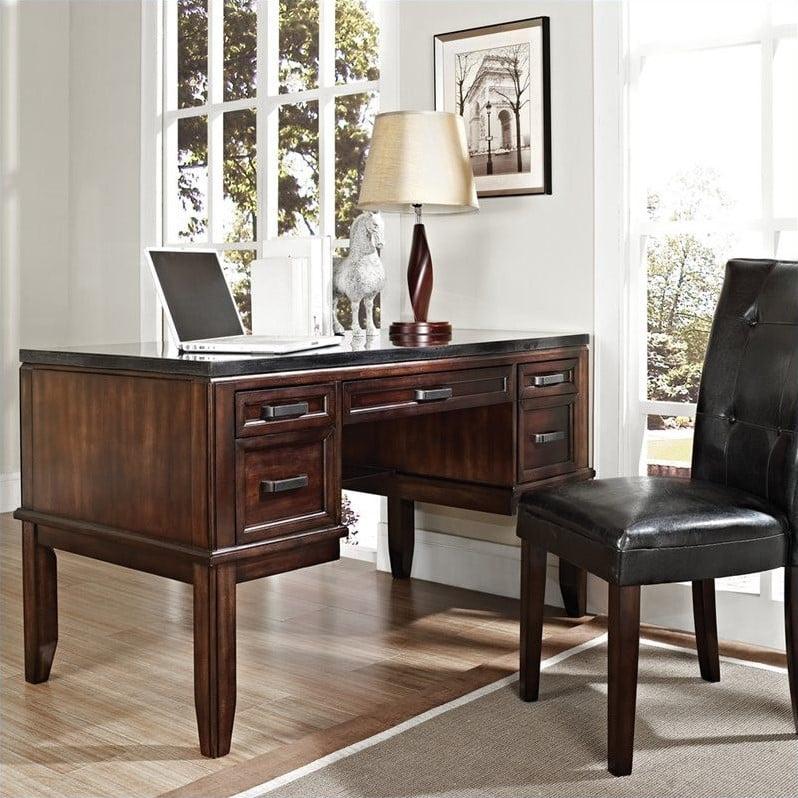 Steve Silver Company Chamberlain Black Granite Top Writing Desk