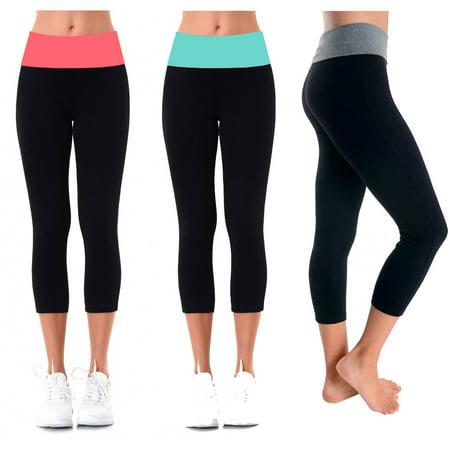 96510a2a7d MOPAS - Ladies Capri Yoga Leggings - Walmart.com