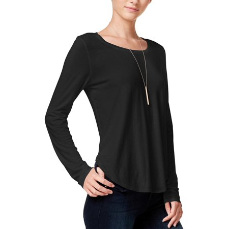 Chelsea Sky Womens Jersey Cut-Out Casual Top
