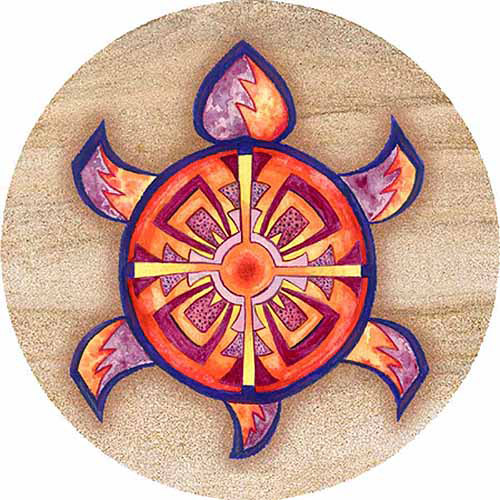 Thirstystone Drink Coasters Set, Indian Turtle