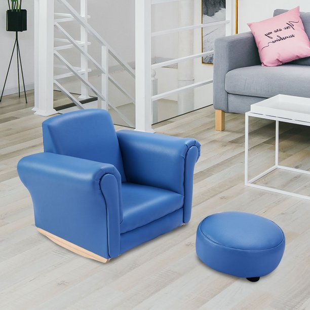 Costway Blue Kids Sofa Armrest Chair Couch Childrens Living Room