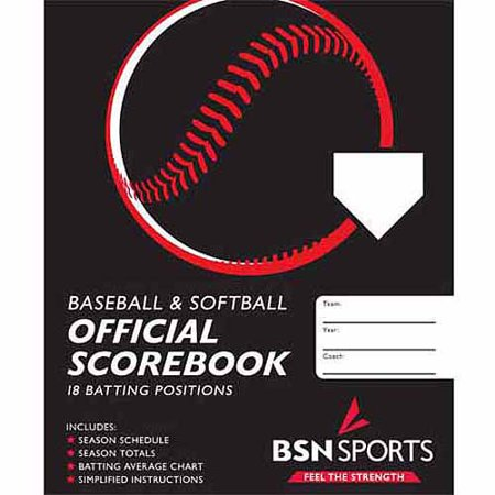 Baseball Softball Scorebook  Black