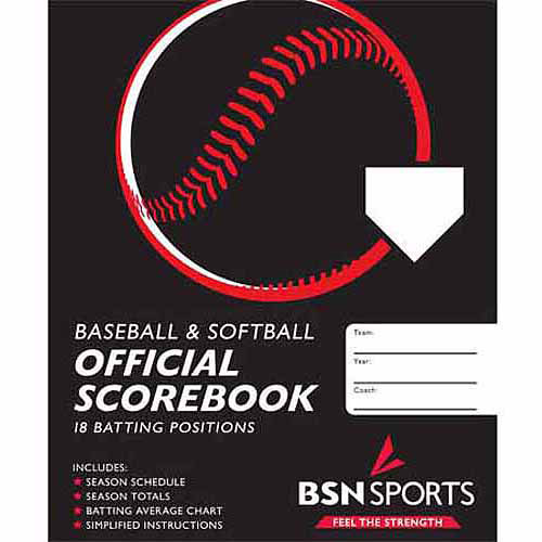 Baseball/Softball Scorebook, Black