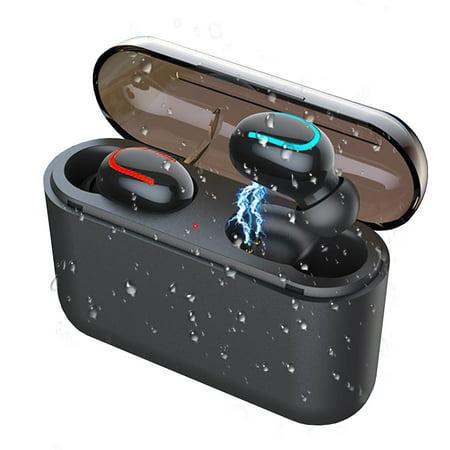 True Wireless Earbuds Bluetooth 5.0 Earphones, EEEKit in-Ear Mini TWS Earbuds IPX5 Waterproof HD HiFi Stereo Sound Headphones Hands Free Call with Built-in MIC, Portable Charging Case Hands Free Portable Headphones