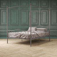 DHP Canopy Metal Bed, Multiple Colors and Sizes