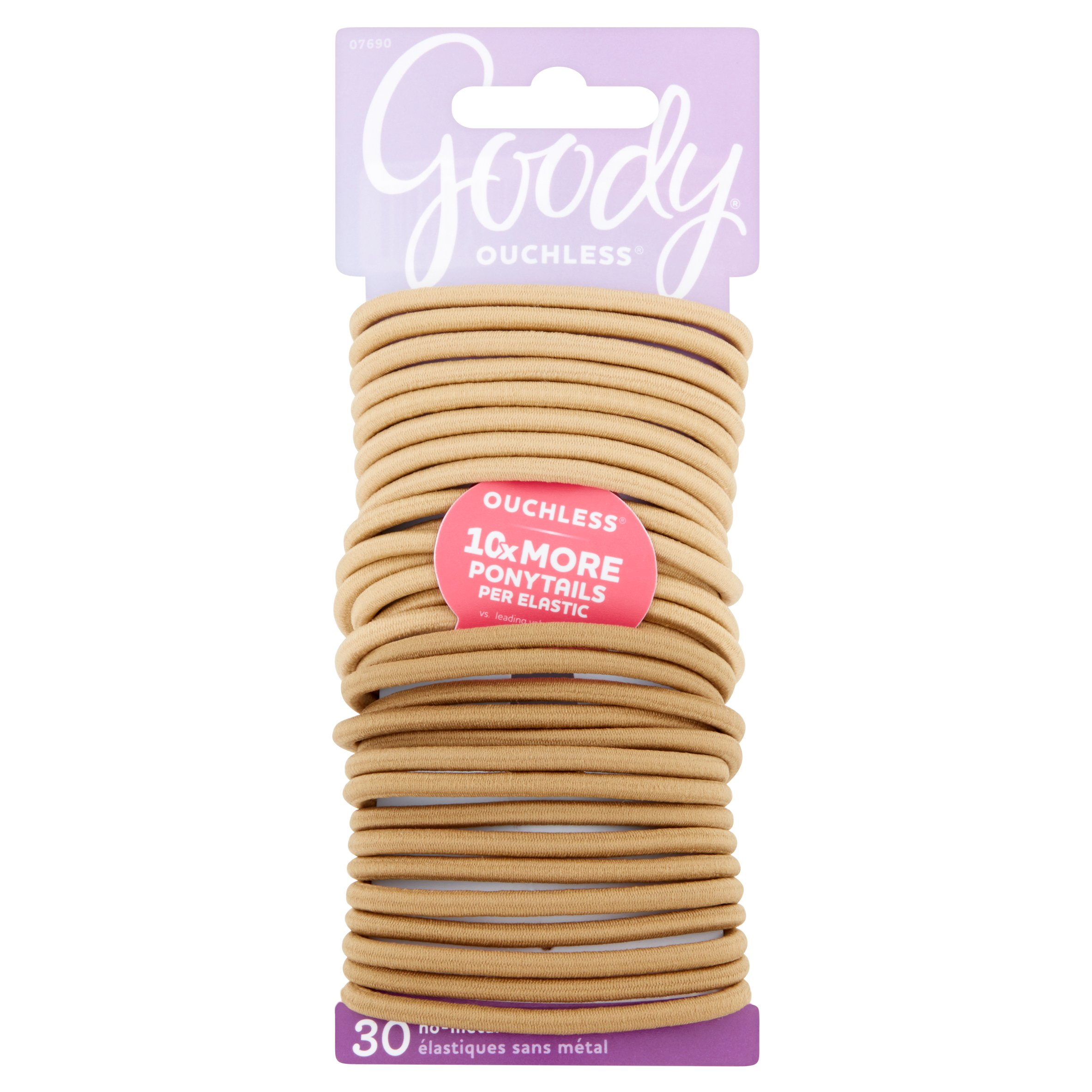 (2 Pack) Goody Ouchless Elastics, Blonde, 30 count