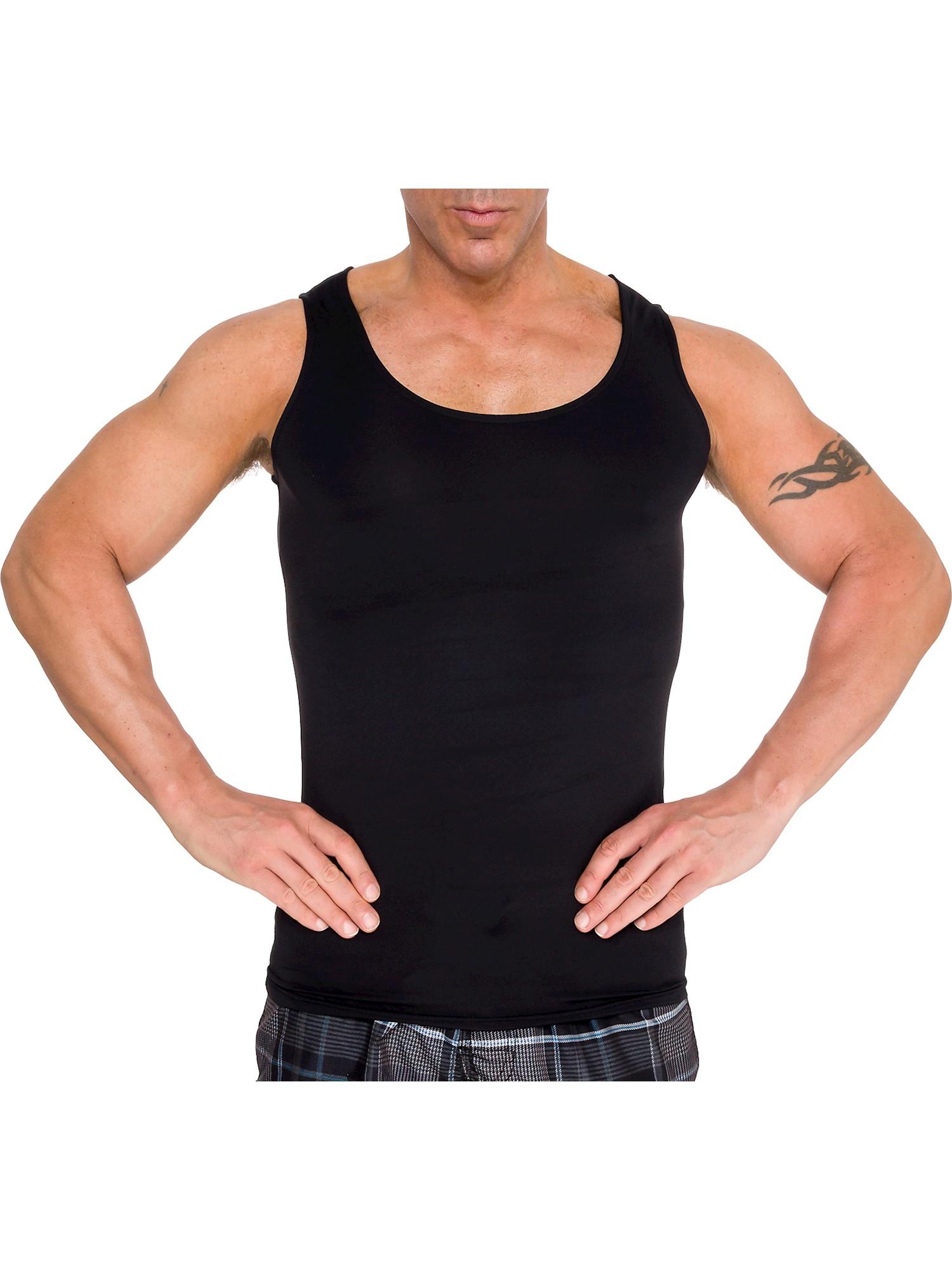 LISH Men's Slimming Compression Body Shaper Gynecomastia Undershirt Tank