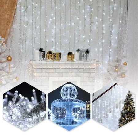 String Decoration (TSV 9.8ft*9.8ft Shiny Xmas String 300 LED Warm Light Fairy Wedding Curtain Decoration for Room Apartment)