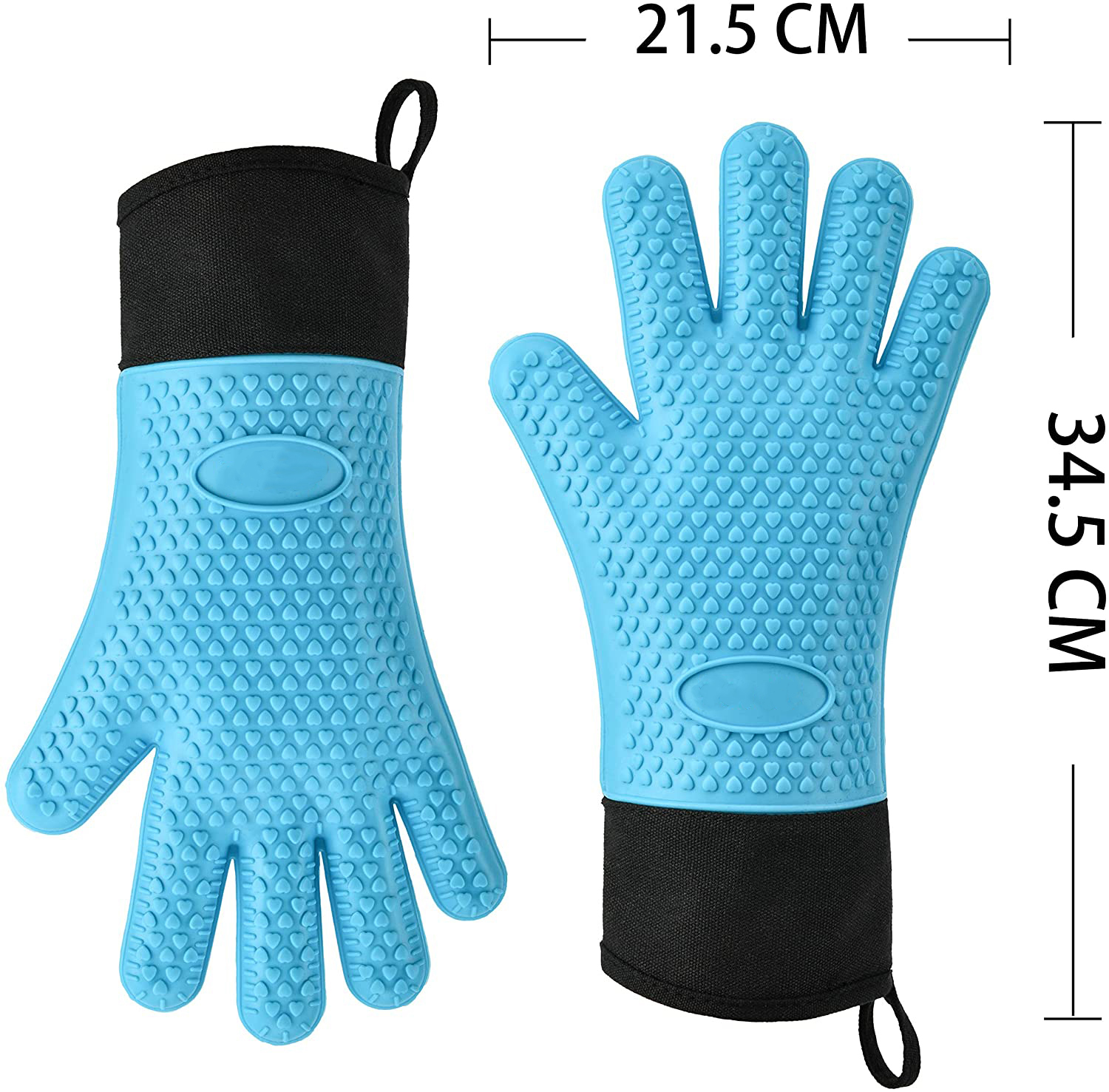New Pair of Gloves Heat Resistant Silicone Gloves Kitchen BBQ Oven Cooking Mitt