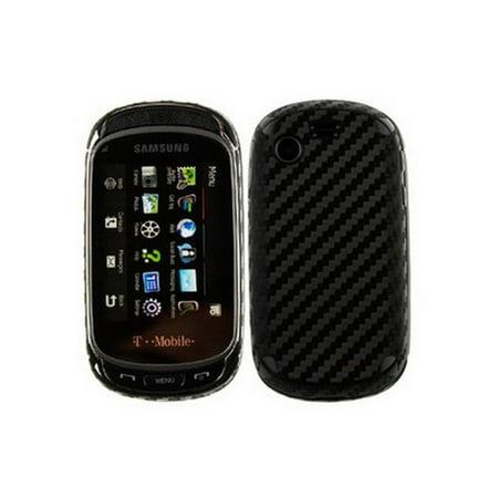 Skinomi Carbon Fiber Body Cover+LCD Screen Protector Film for Samsung Gravity T