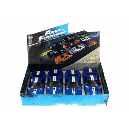 Box of 4 Diecast Model Cars - Fast & Furious Ford GT Hard Top, Blue, 1/24 Scale -  ModelToyCars