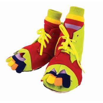 CLOWN SHOES & TOE SOCK SET (Clown Shoe)
