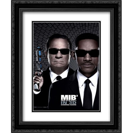 men in black 3 20x24 double matted black ornate framed movie poster