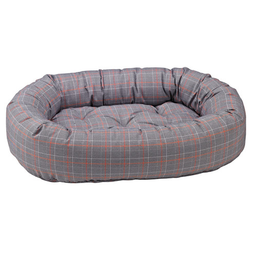 Donut Bed in Polo Plaid Fabric (XXL)
